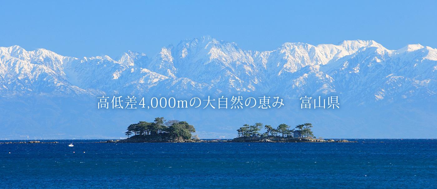 高低差4,000mの大自然の恵み 富山県